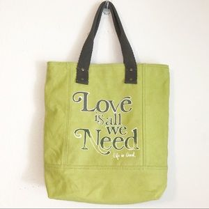 Life is Good Love Is All We Need Tote Bag